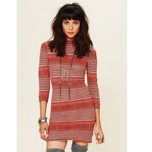 """Free People """"Groovy"""" Sweater Knit Coral Dress"""